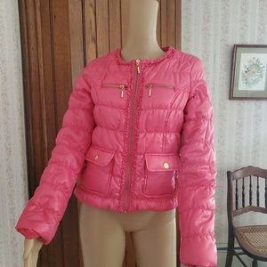 Pink Envelope hot pink jacket, Medium girl